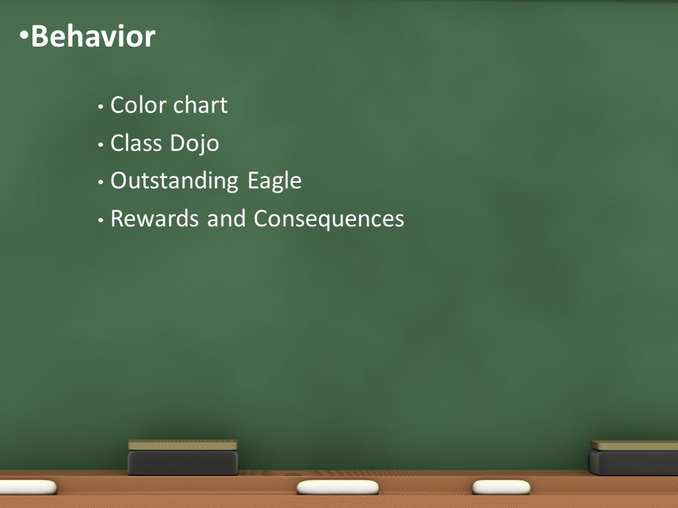 Behavior Color chart Class Dojo Outstanding Eagle Rewards and Consequences