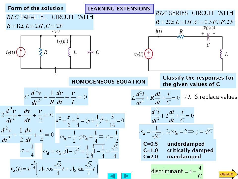 SECOND-ORDER CIRCUITS THE BASIC CIRCUIT EQUATION Single Node-pair ...