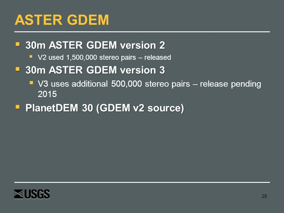 SRTM M Wm Matthew Cushing USGS May Ppt Video Online Download - Aster gdem free download
