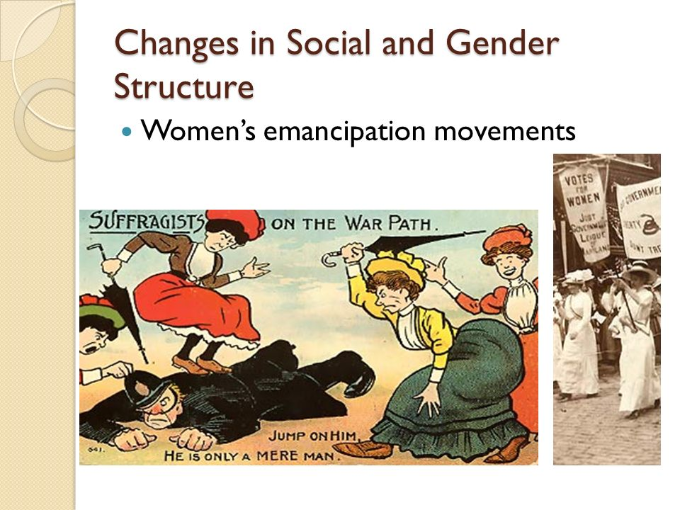 Changes in Social and Gender Structure Women's emancipation movements