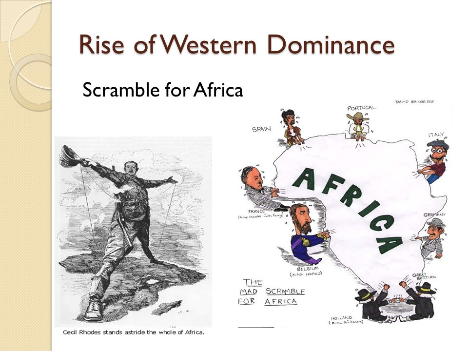 Rise of Western Dominance Scramble for Africa