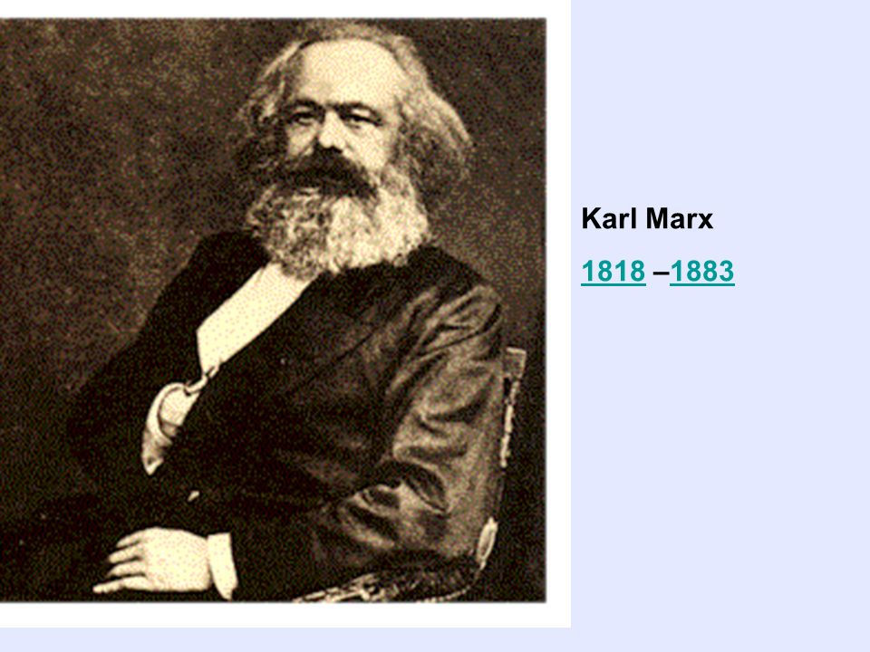 Karl Marx 18181818 –18831883