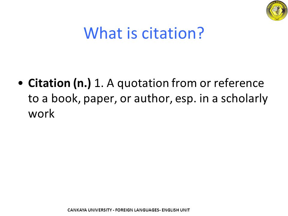 Citation of an academic paper