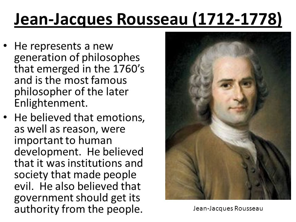 a research on jean jacques rousseau and the social contract theory An early critic of social contract theory was rousseau's friend  research series rousseau, jean-jacques the social contract.