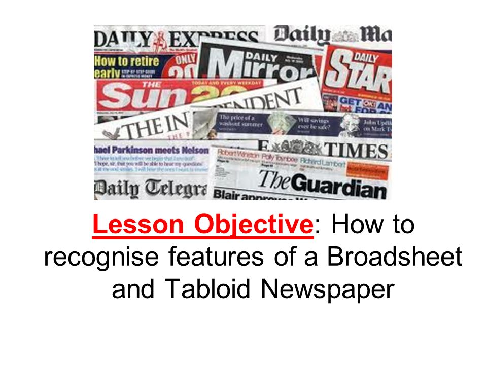 What is the leading article in a broadsheet newspaper?