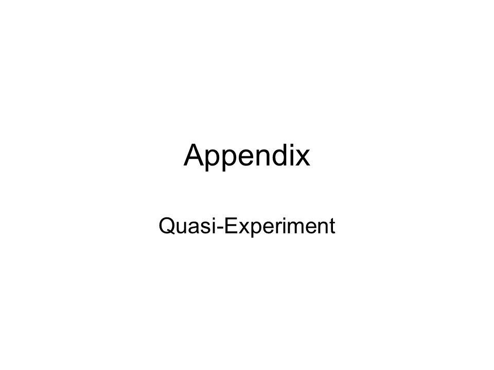 Appendix Quasi-Experiment