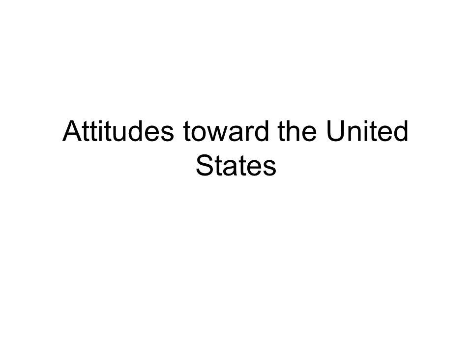 Attitudes toward the United States
