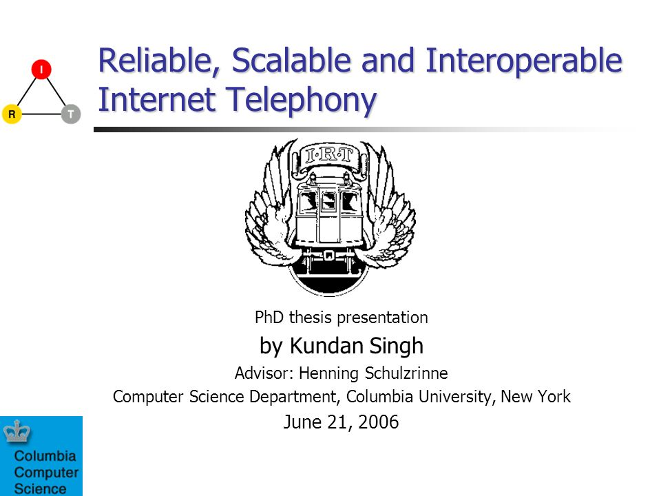 Master thesis presentation on sql