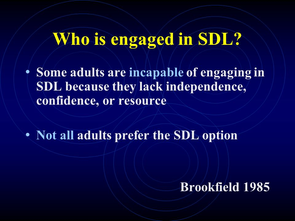 Who is engaged in SDL.