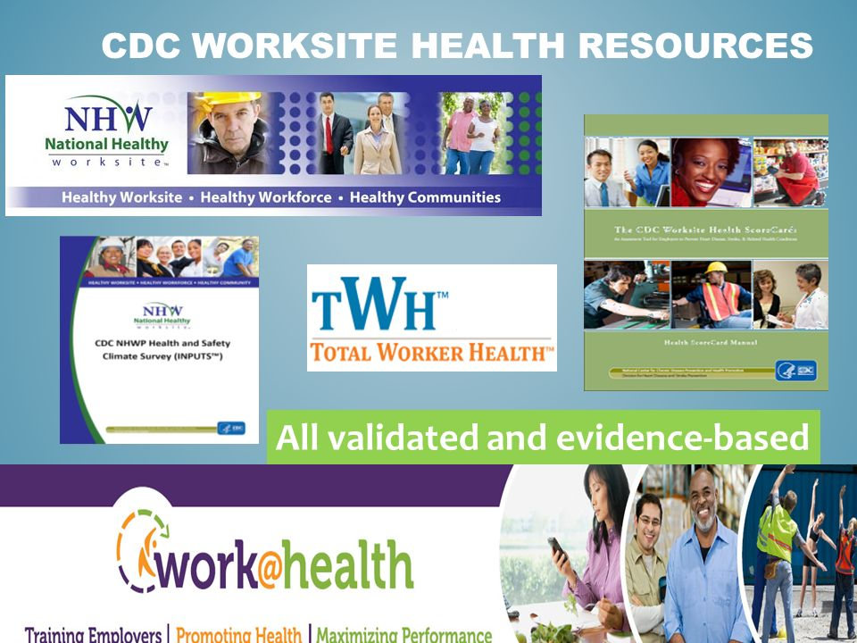 CDC WORKSITE HEALTH RESOURCES kyhealthnow3 All validated and evidence-based