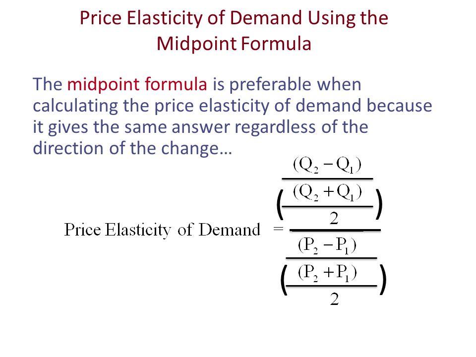 price elasticity of demand formula