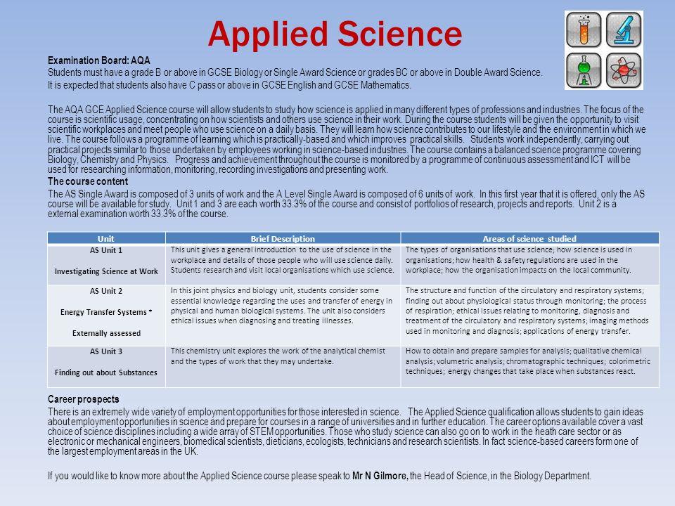 GCSE Double Award Science AQA?
