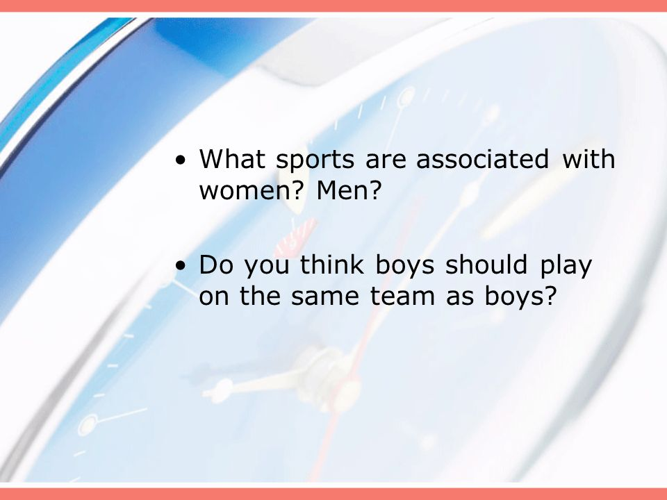 Should woman play on the Same sports team as men?