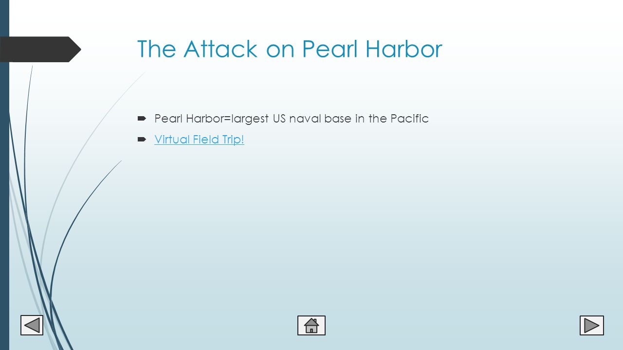 prelude to world war ii and united states entry by mr edgar 11 the attack on pearl harbor 61620 pearl harbor largest us naval base in the pacific