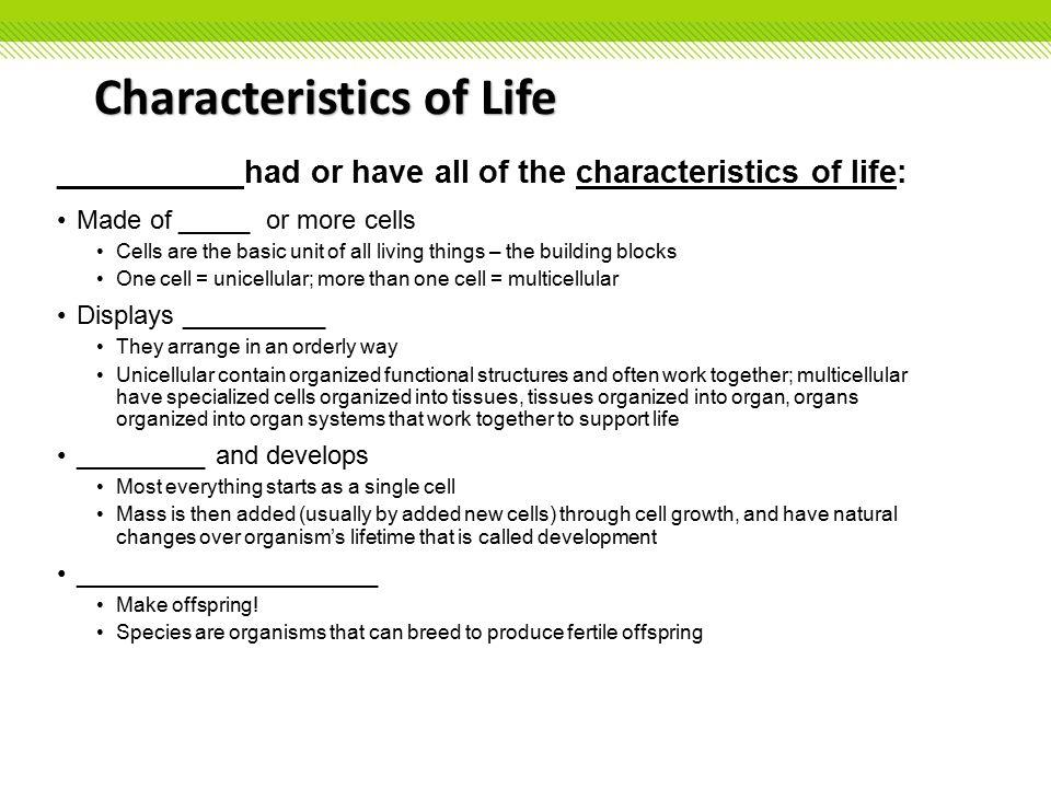 Characteristics Of Life Worksheet Photos pigmu – Characteristics of Life Worksheet