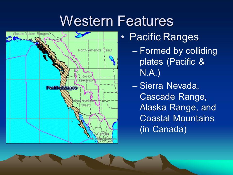Coastal mountain range map