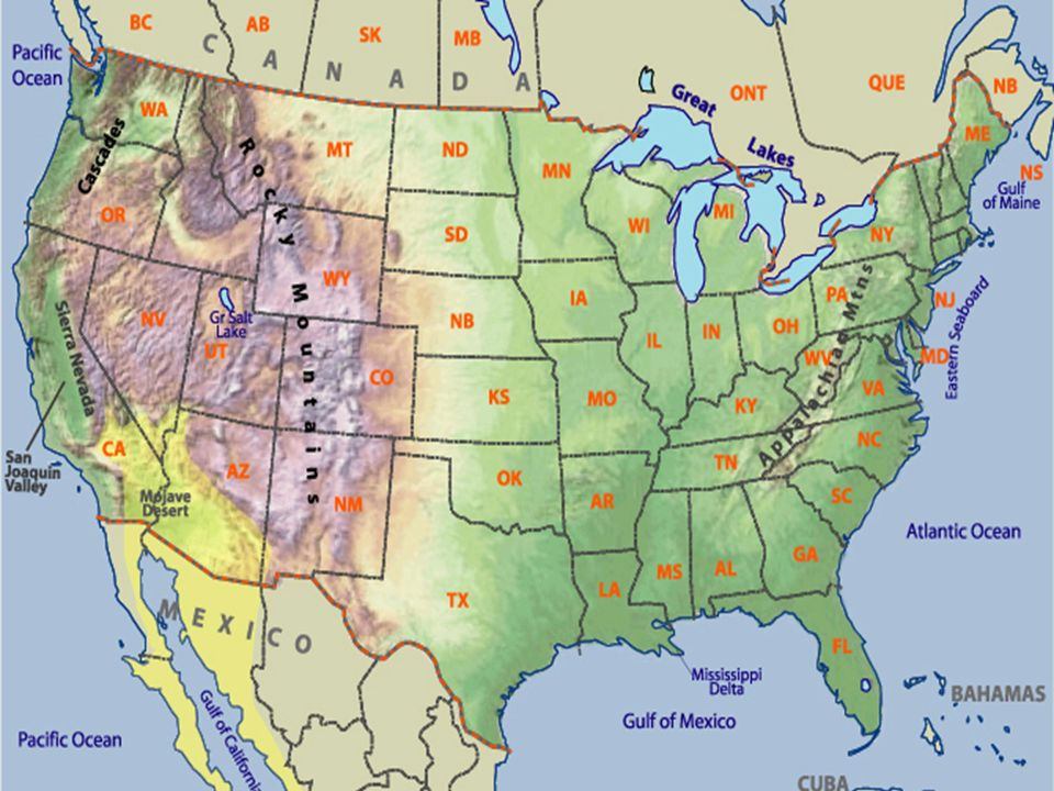 Physical Map Of The United States Of America Detailed Physical - Us physical features map labeled
