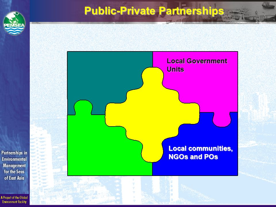 Public-Private Partnerships Local Government Units Local communities, NGOs and POs