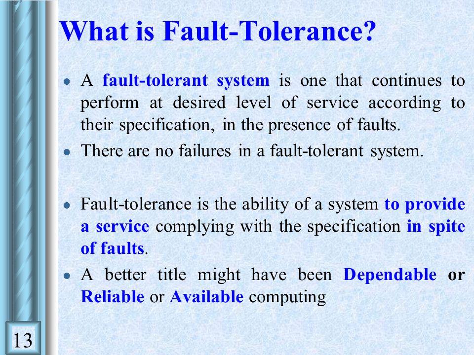 fault tolerance system
