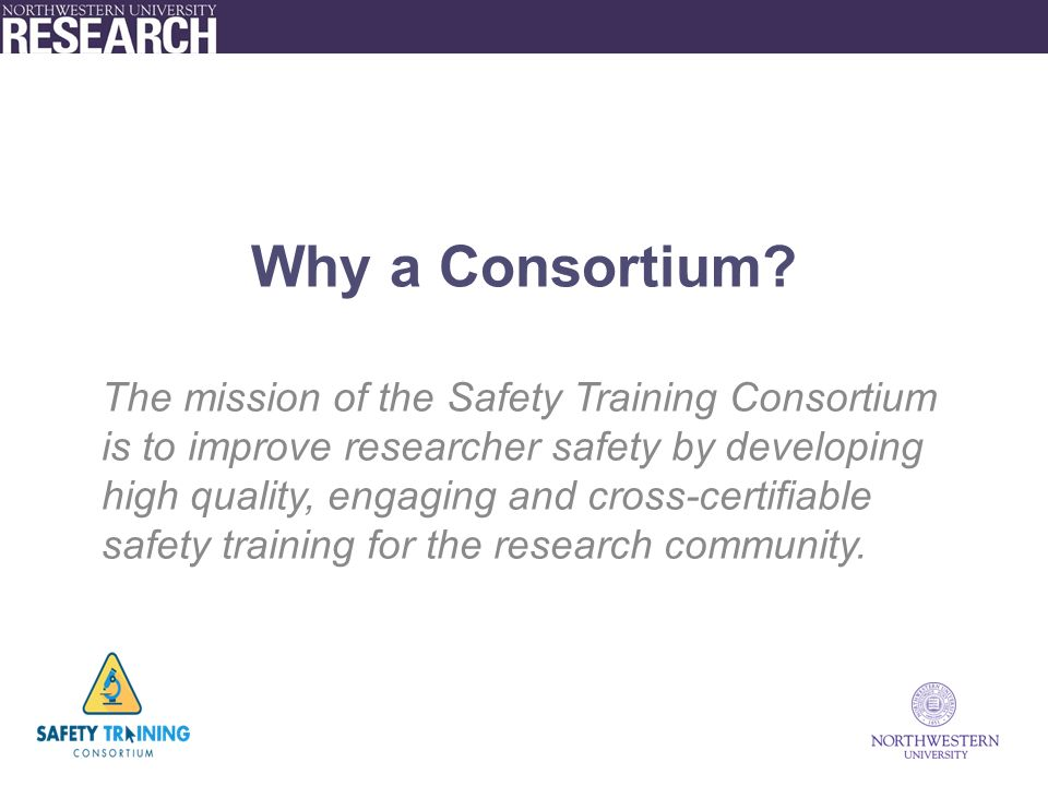 Why a Consortium.