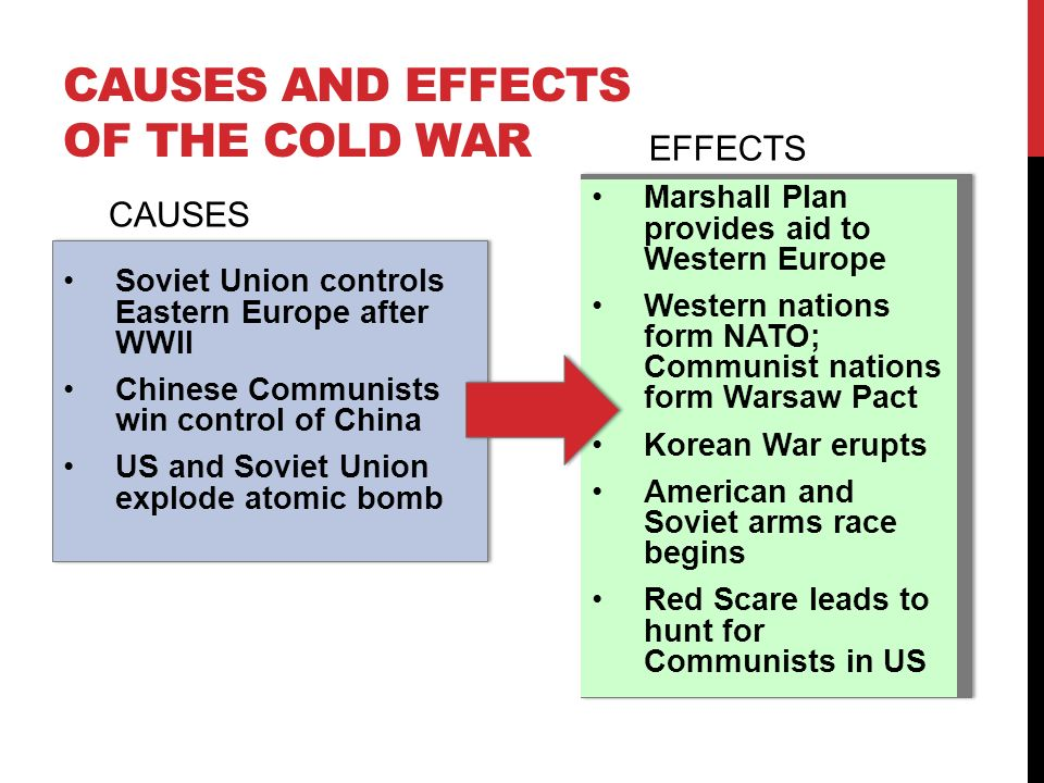 What are the causes and effects of the cold war?
