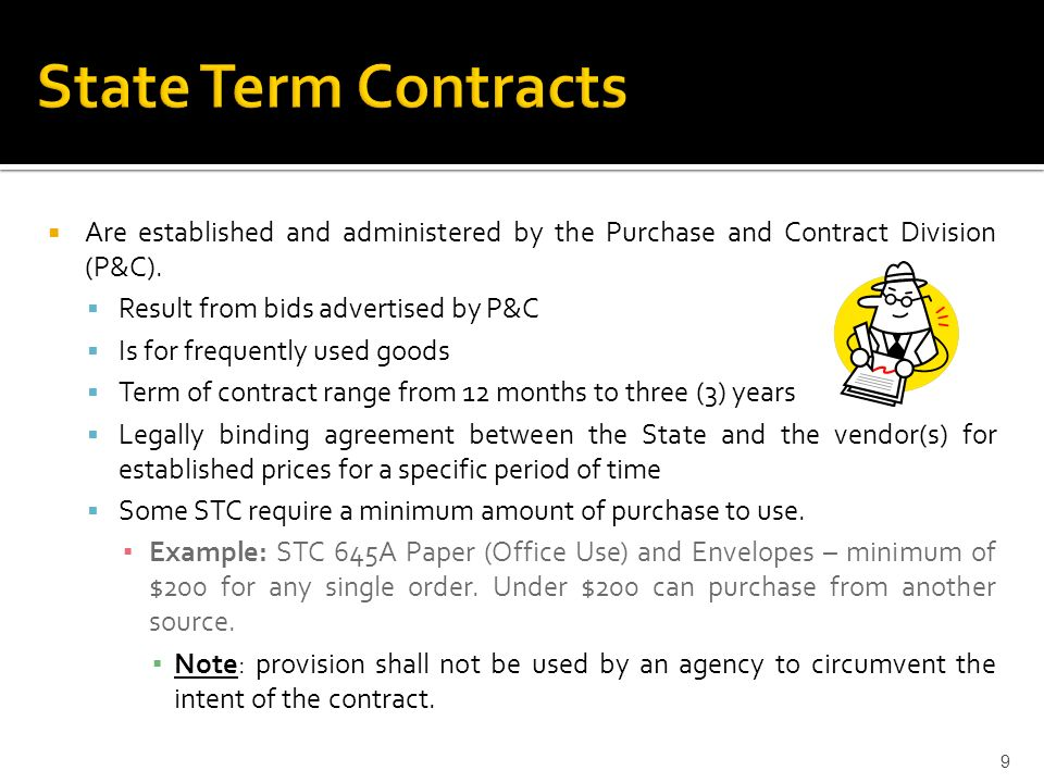 Are Established And Administered By The Purchase And Contract Division  (Pu0026C).  Letter Of Intent To Purchase Goods