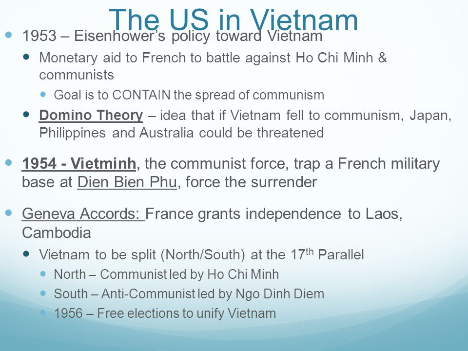The Vietnam Policy?