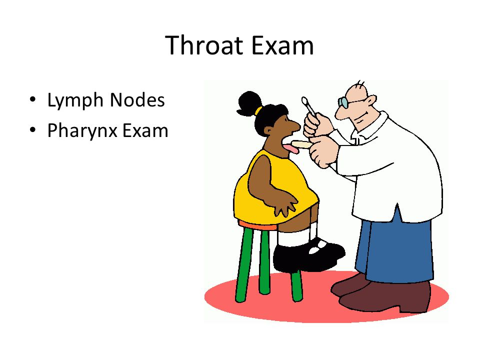 Throat Exam Lymph Nodes Pharynx Exam
