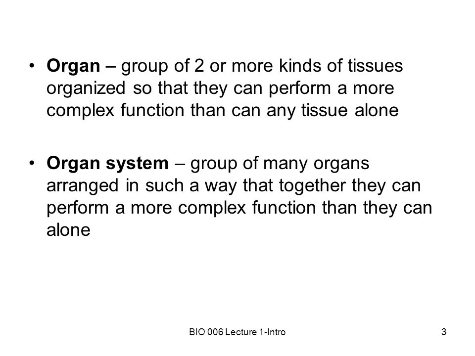 BIO 006 Lecture 1-Intro1 Overview of Anatomy and Physiology Anatomy ...