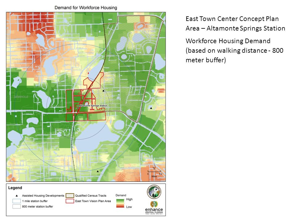 East Town Center Concept Plan Area – Altamonte Springs Station Workforce Housing Demand (based on walking distance meter buffer)
