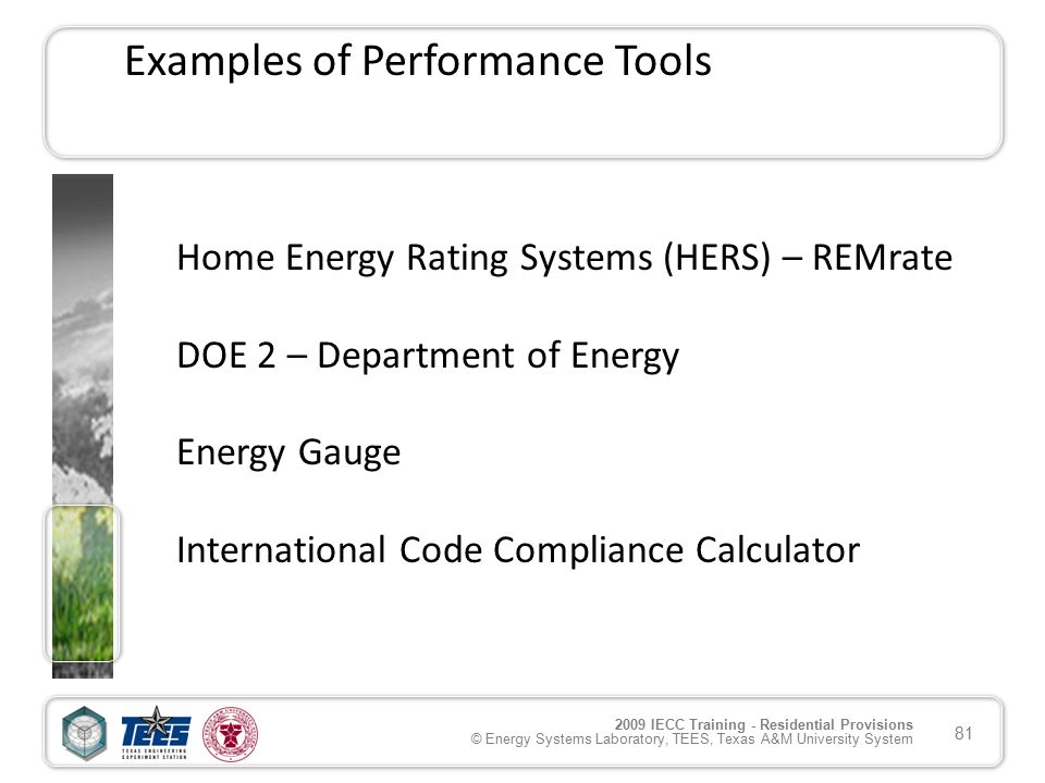 Home Energy Rating Systems (HERS) U2013 REMrate DOE 2 U2013 Department Of Energy  Energy Gauge International Code Compliance Calculator