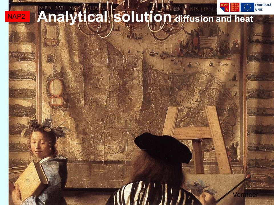 Analytical solution diffusion and heat NAP2 Vermeer