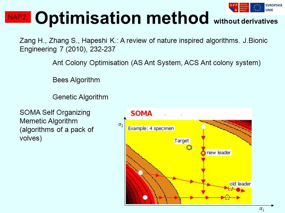 NAP2 Zang H., Zhang S., Hapeshi K.: A review of nature inspired algorithms.