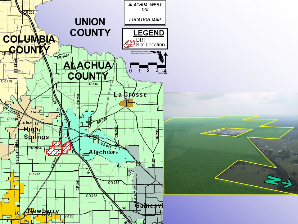 NORTH CENTRAL FLORIDA REGIONAL PLANNING COUNCIL REPORT AND - Us 441 map