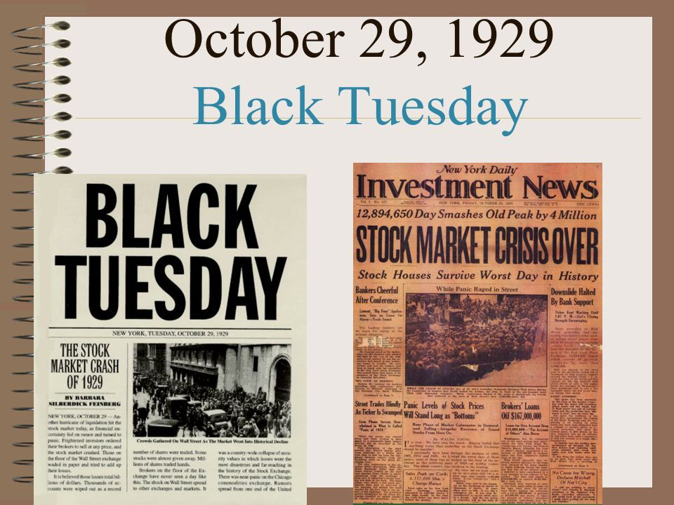 October 29, 1929 Black Tuesday