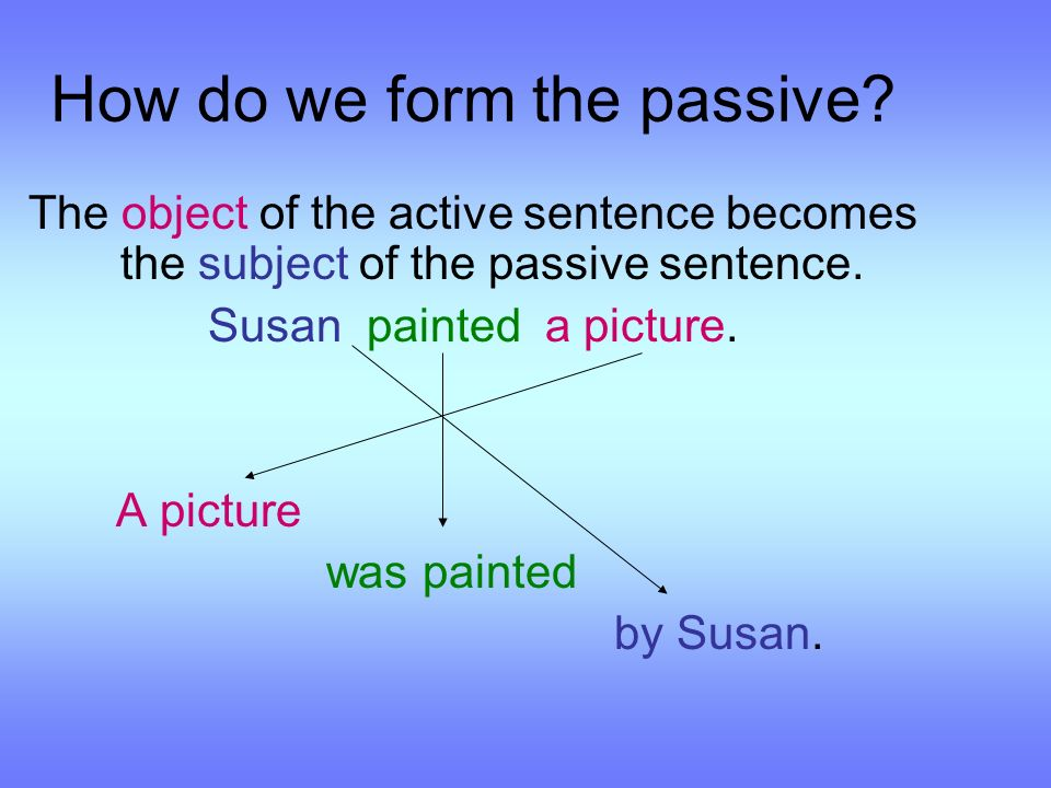 How do we form the passive.