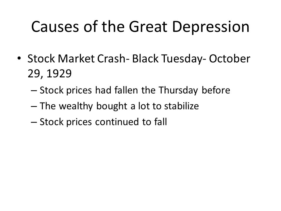 an analysis of the great depression of 1929 and its effects While we have spoken about the 20's as a time of great the great depression did not begin in 1929 with the fall of they would be immune to its effects.