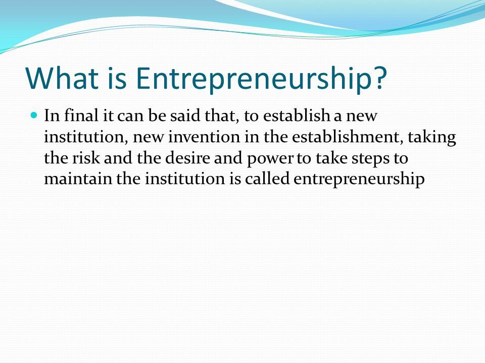 What is interprinuership?