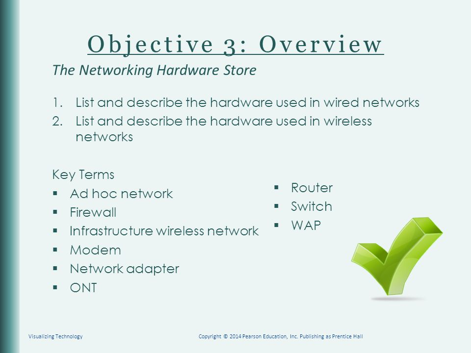 Objective 3: Overview The Networking Hardware Store 1.