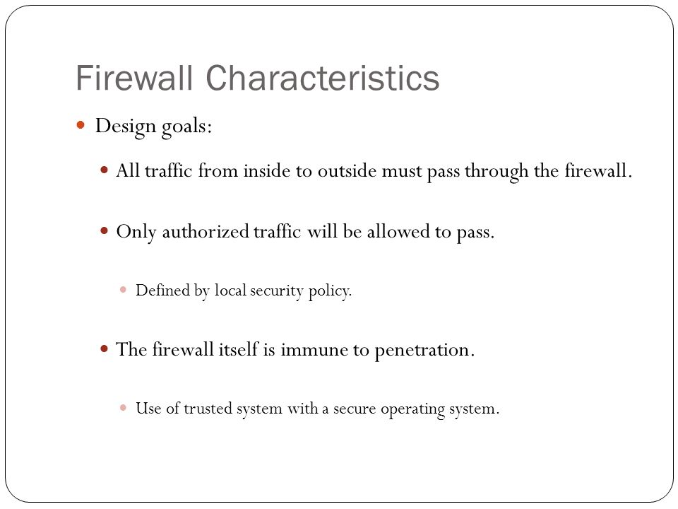 Definition of firewall penetration