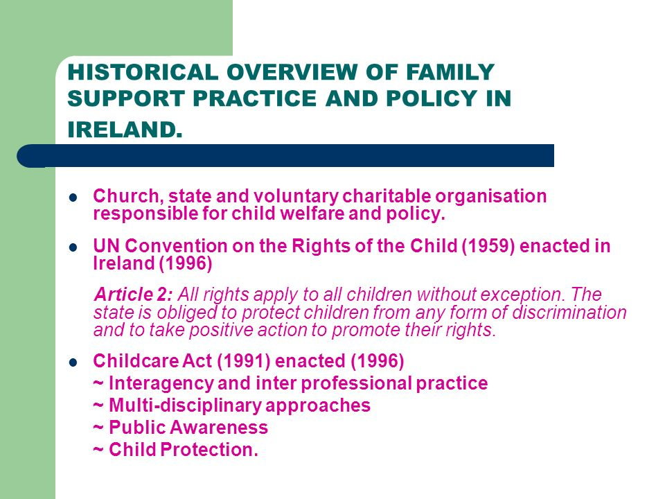 INTRODUCTION TO FAMILY SUPPORT PRACTICE Developing ethical ...