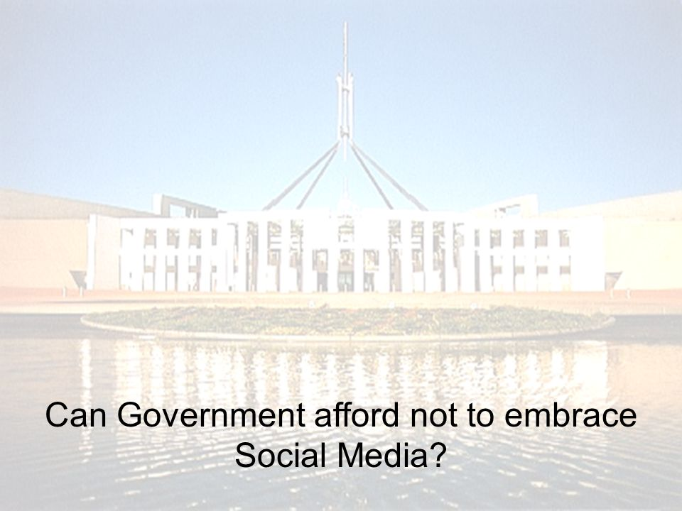 © Daemon Group 2008 Can Government afford not to embrace Social Media