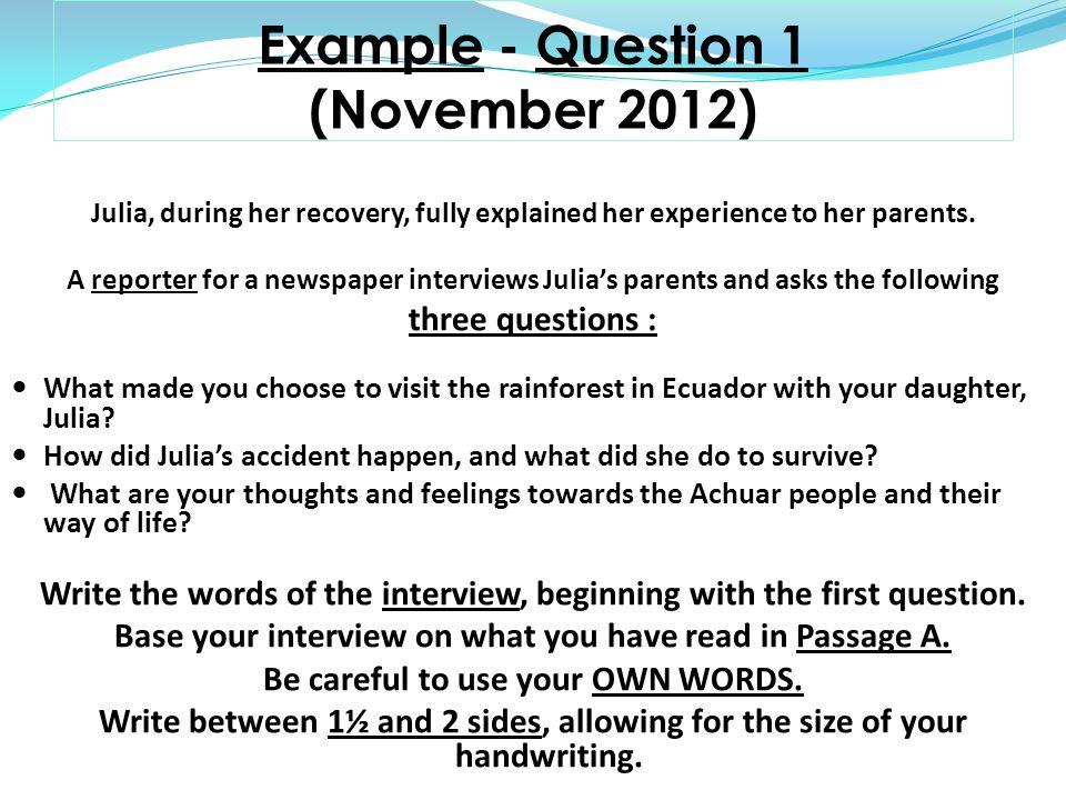 paper 1 interview