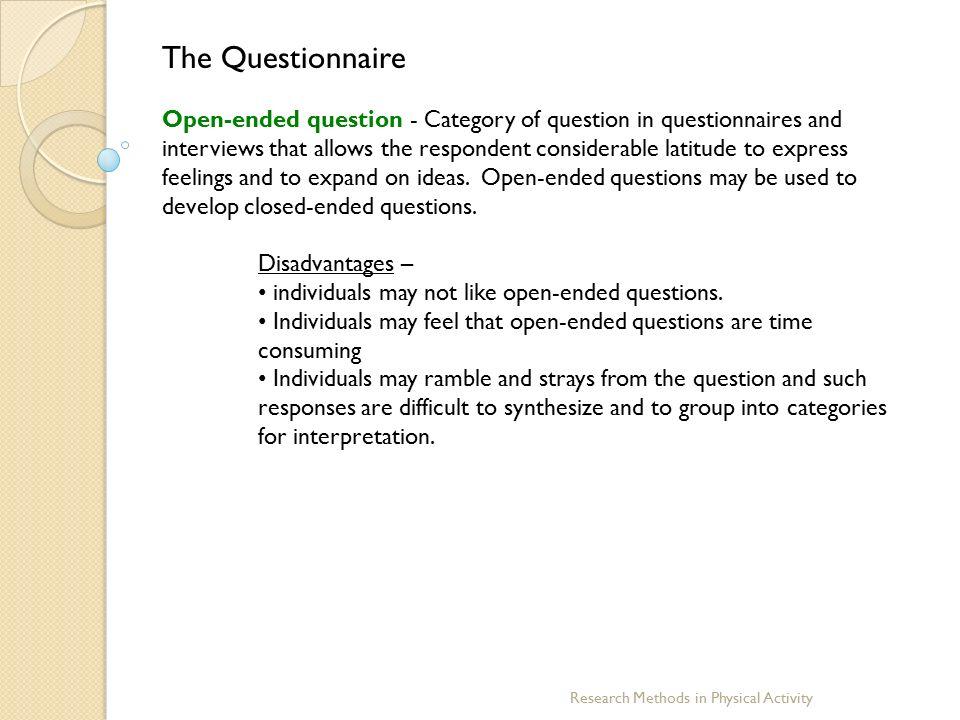 Dissertation research methods questionnaire