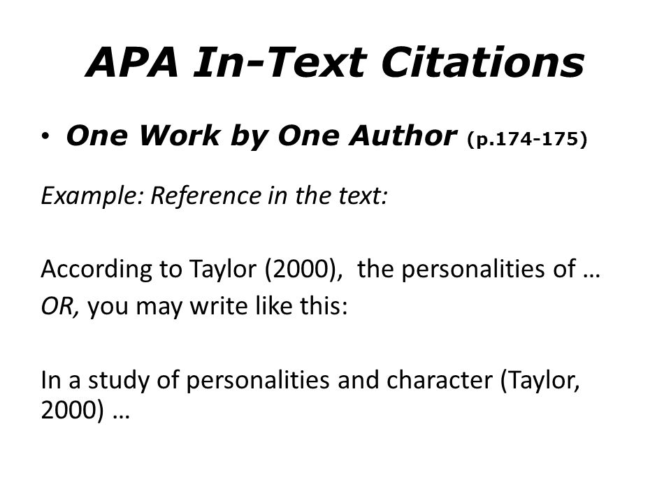 Citing authors apa