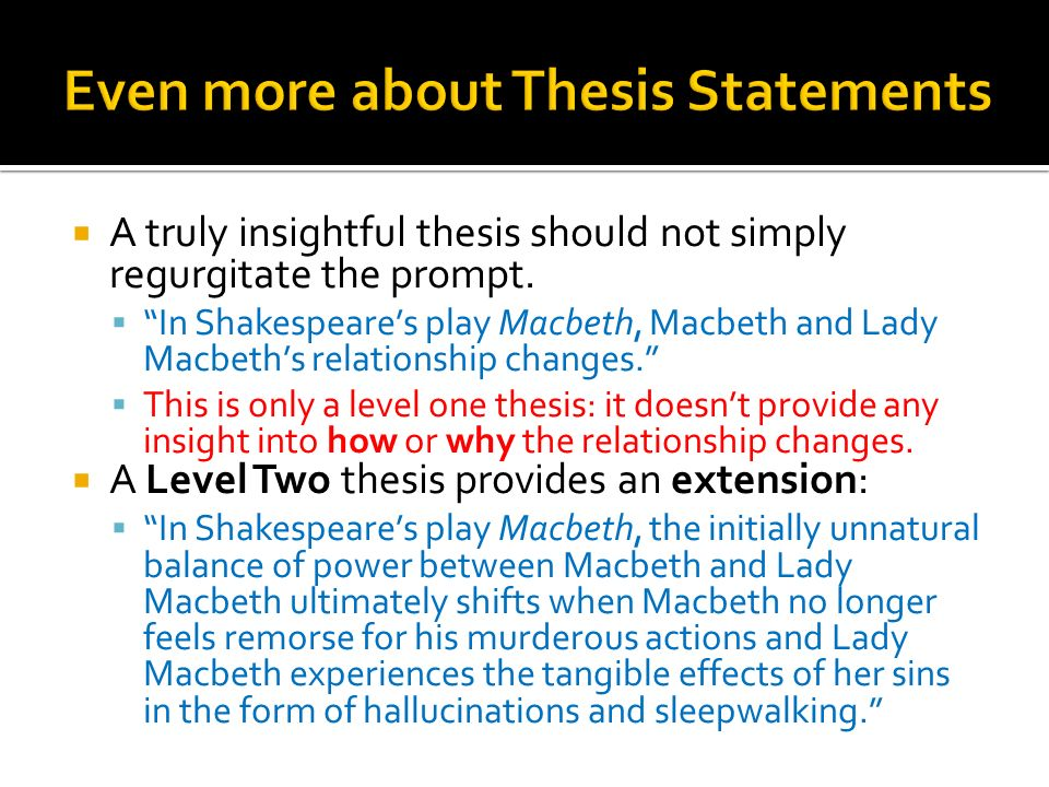good thesis statements for macbeth