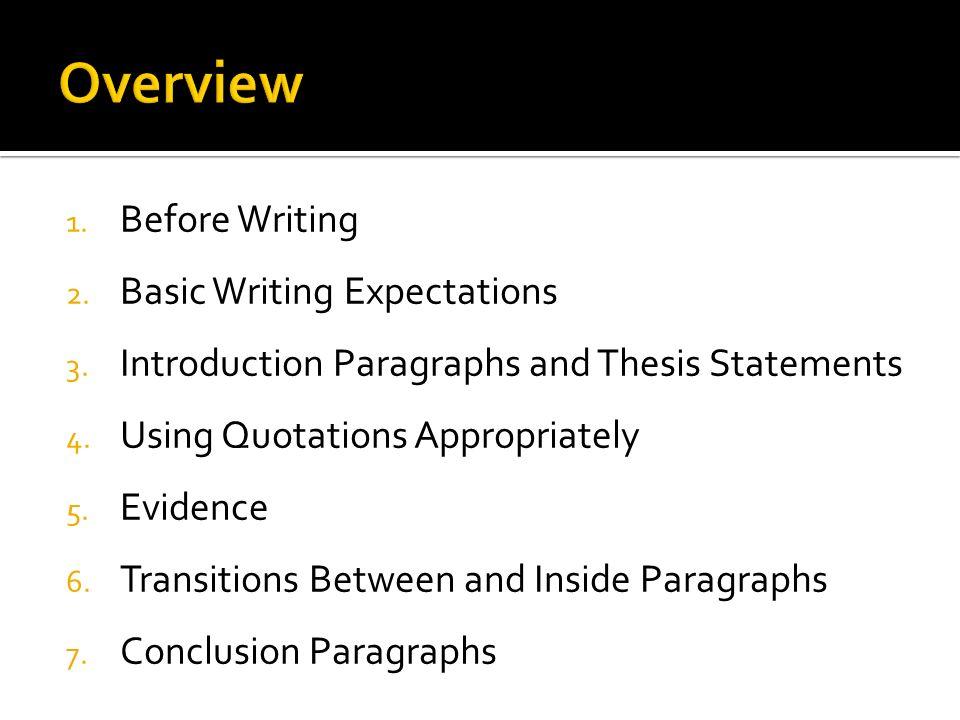 Master thesis basics