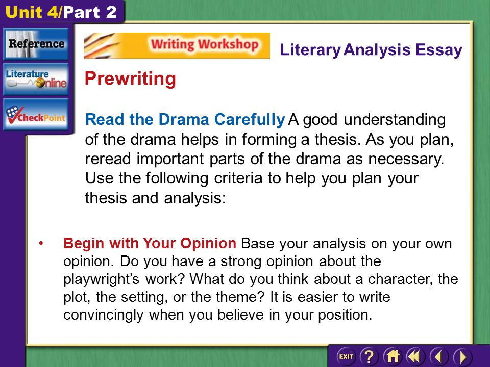 write good essay literary analysis