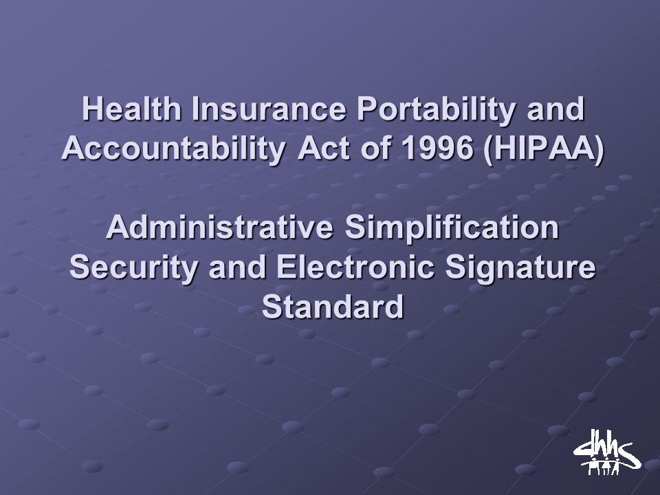 health insurance portability and accountability act essay