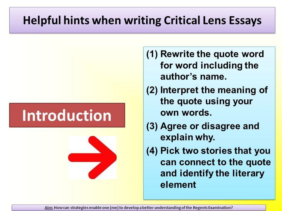 critical lens essay rubric english regents